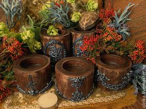 Благотворительная лотерея на комплект подсвечников из дерева!   Ярмарка Мастеров - ручная работа, handmade