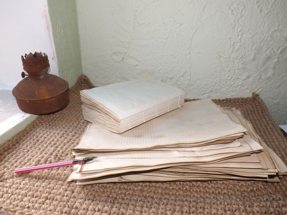 блокнот с нуля, сшитый блок, состаренный бумажный блок