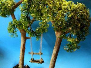 Новинки. Миниатюры. Деревья для кукольного сада.. Ярмарка Мастеров - ручная работа, handmade.