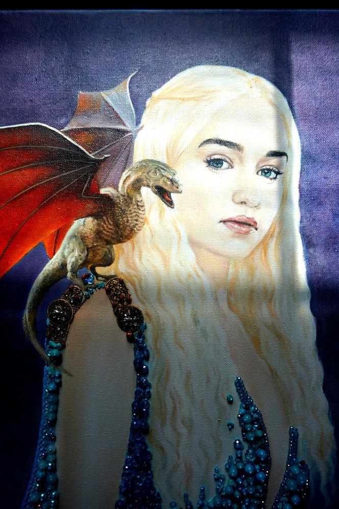 дейенерис на драконе