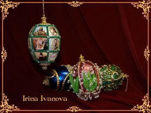 Яйца Фаберже. Эксклюзивные ёлочные украшения. Ярмарка Мастеров - ручная работа, handmade.