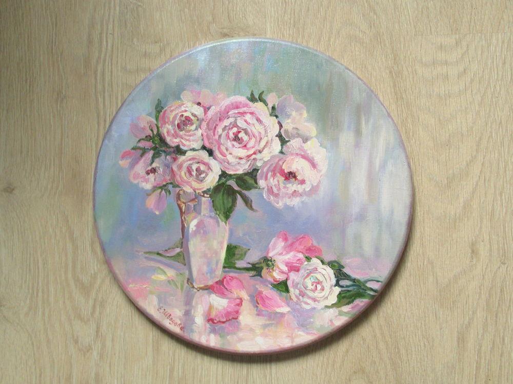 картина цветы, розы на картине, необычная картина