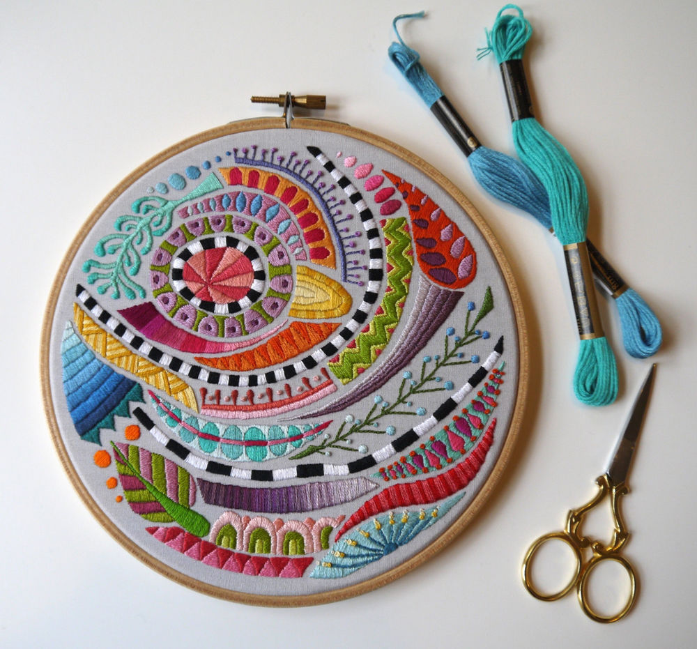 Amazing Embroidery By Corinne Sleight Livemaster