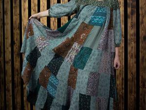 Платье-пэчворк с котиками) | Ярмарка Мастеров - ручная работа, handmade