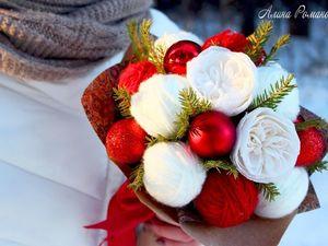 Оригинальный подарок на Новый год: букет из клубков. Ярмарка Мастеров - ручная работа, handmade.