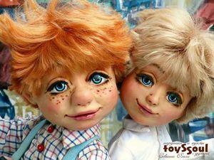 Малыш и Карлсон — авторская кукольная композиция! Теперь с домиком! Давайте поиграем). Ярмарка Мастеров - ручная работа, handmade.