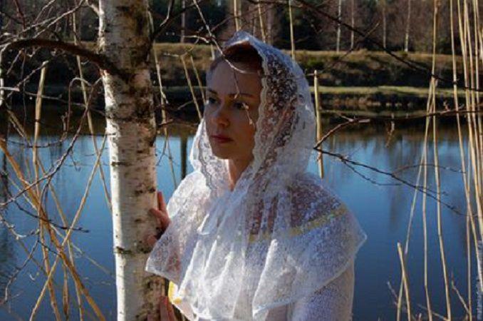 платок для храма, накидка, невеста