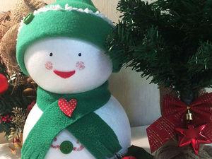 Создаем милого новогоднего снеговика. Ярмарка Мастеров - ручная работа, handmade.