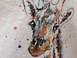 Отчет МК роспись войлочного изделия методом по сухому в Шкатулочке. Ярмарка Мастеров - ручная работа, handmade.