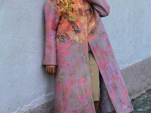 Аукцион на лёгкое валяное пальто! Сегодня!. Ярмарка Мастеров - ручная работа, handmade.