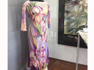 Шелковые платья батик со скидкой. Ярмарка Мастеров - ручная работа, handmade.