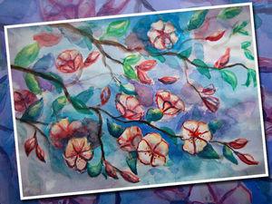 Рисуем акварелью цветущую яблоню: видео мастер-класс. Ярмарка Мастеров - ручная работа, handmade.