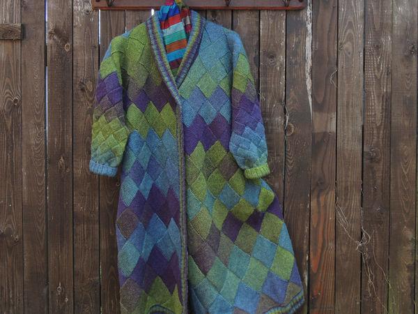 Новое длинное пальто из Кауни   Ярмарка Мастеров - ручная работа, handmade