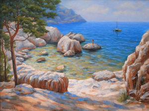 Новая работа! Картина Морское побережье!. Ярмарка Мастеров - ручная работа, handmade.