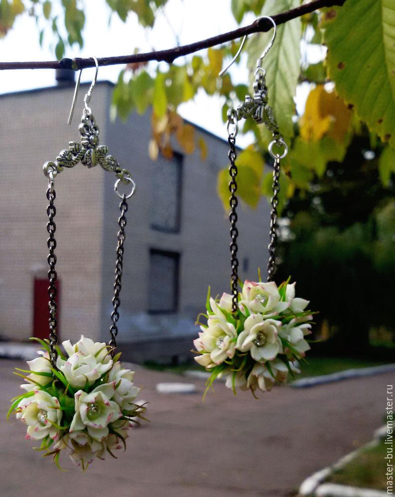 холодный фарфор, украшения своими руками, реалистичные цветы