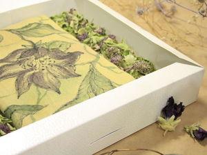 Упаковка с сухоцветами для шерстяных изделий.. Ярмарка Мастеров - ручная работа, handmade.