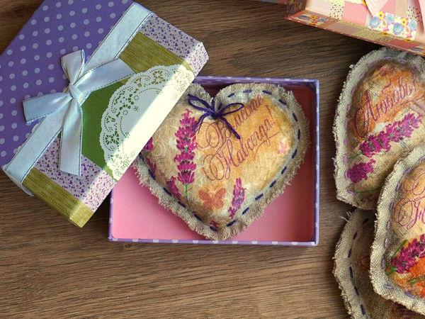 Делаем лавандовую подушечку-валентинку для любимых в технике декупаж | Ярмарка Мастеров - ручная работа, handmade