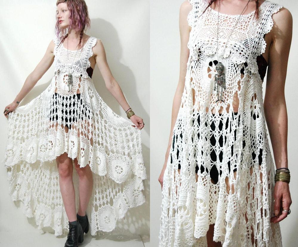 Белое бохо, или Шикарная одежда для королевы летнего пляжа, фото № 99