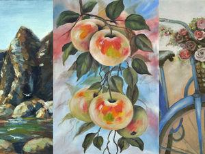 Три картины с большой скидкой!. Ярмарка Мастеров - ручная работа, handmade.