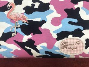 В наличии: Розовый камуфляж. Футер 2-х нитка набивной с лайкрой. Ярмарка Мастеров - ручная работа, handmade.