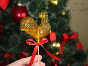 Петушок на палочке. Делаем мыльный подарок к Новому году!. Ярмарка Мастеров - ручная работа, handmade.
