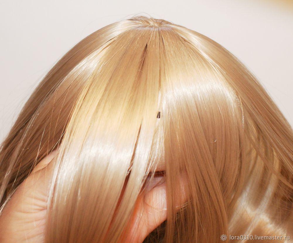 Делаем волосы для куклы. Часть 2