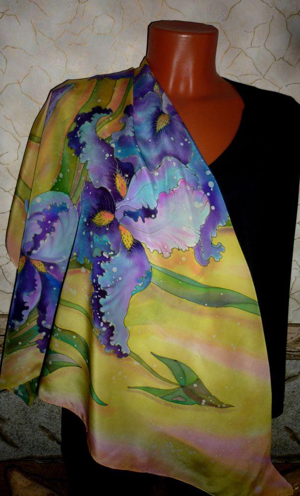 платок батик, холодный батик
