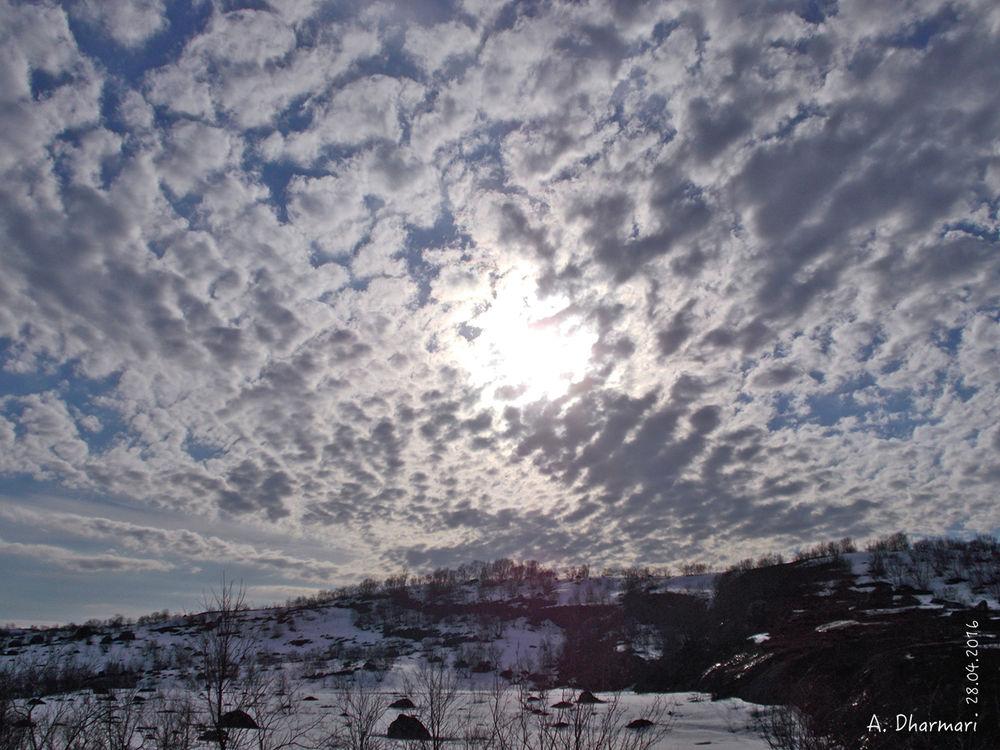север, небо