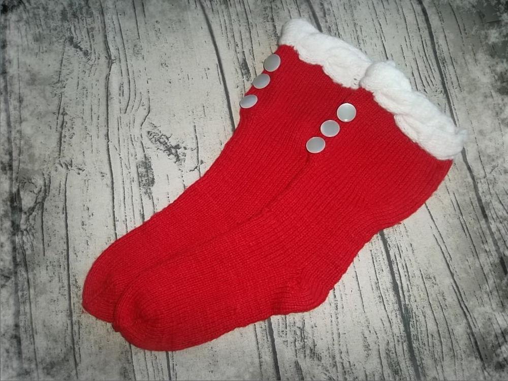 аукцион, скидки, акция, носочки, вязанные носочки, красный, новый год, зима, гольфы