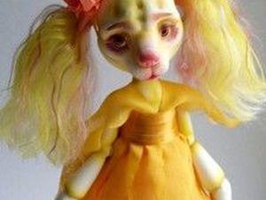 Фьюри - шарнирная собака - цветочек. Ярмарка Мастеров - ручная работа, handmade.