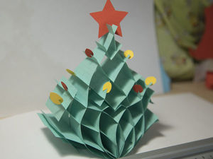 Делаем объемную новогоднюю открытку