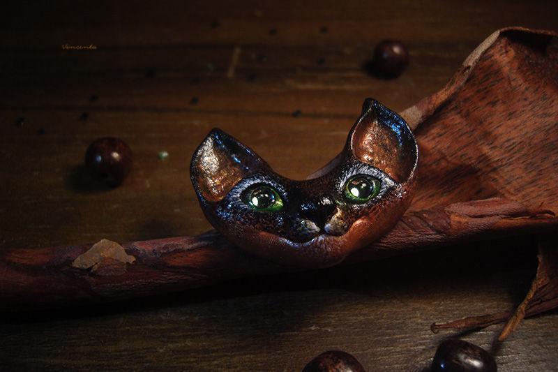 конфетка, брошь кошка, осеннее настроение