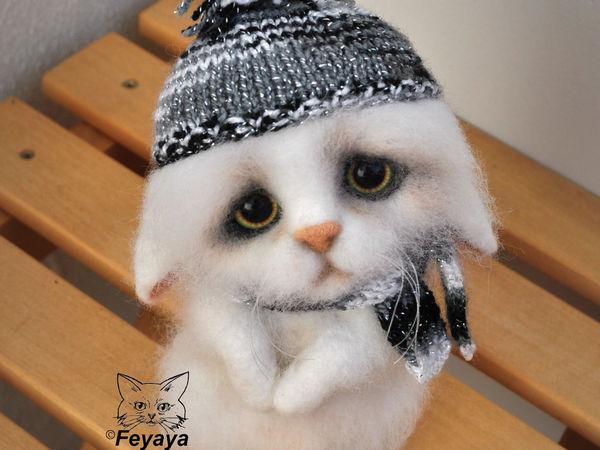 Мастер-класс: котик-печалька Сенечка в технике сухого валяния | Ярмарка Мастеров - ручная работа, handmade