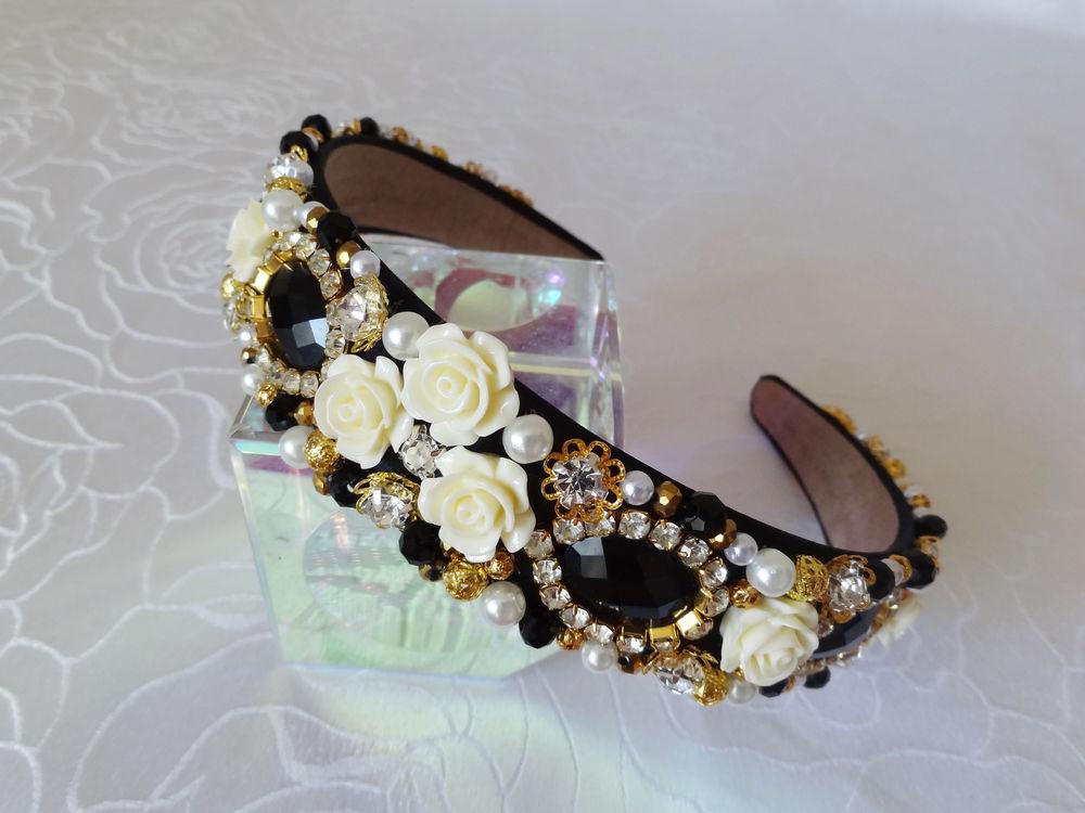 Видео.Ободки в стиле Dolce&Gabbana - Ярмарка Мастеров - ручная работа, handmade