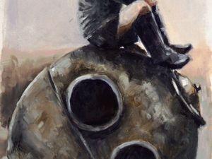 """День 46. Этюд на основе фото 1940-х годов """"Отдых-2"""". Ярмарка Мастеров - ручная работа, handmade."""