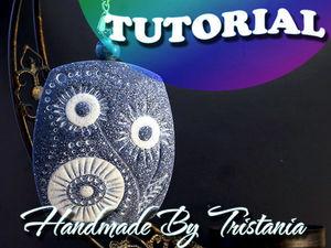 Видеоурок: кулон «Зимний узор» из полимерной глины. Ярмарка Мастеров - ручная работа, handmade.