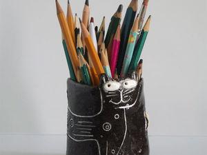 Аукцион на котокружку-карандашницу! Закрыт!. Ярмарка Мастеров - ручная работа, handmade.