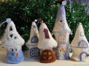 Новогодние домики на елку. Ярмарка Мастеров - ручная работа, handmade.