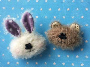 Тедди-брошки и тедди-резиночки -тепло и радость! | Ярмарка Мастеров - ручная работа, handmade