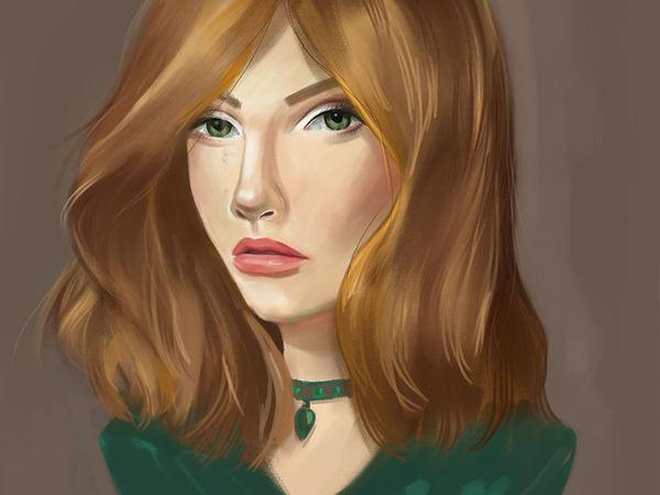 Как сделать нарисованный портрет в фотошопе фото 67