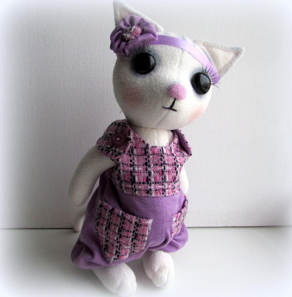 мягкая игрушка кошечка, текстильная игрушка, авторская игрушка, подарок для девочки