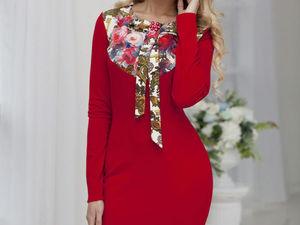 Аукцион на красное трикотажное платьице!!!Старт 1500 р.!!!. Ярмарка Мастеров - ручная работа, handmade.