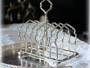 Дополнительные фото антикварной подставки для тостов. Ярмарка Мастеров - ручная работа, handmade.