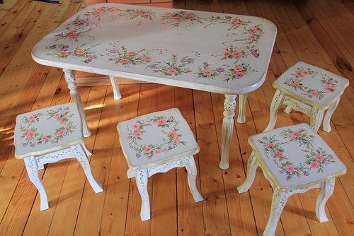 курс росписи мебели, мебель с декором, обучение декорированию
