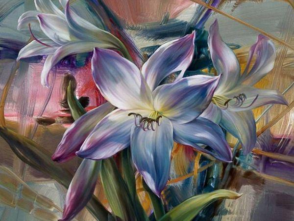 Цветочное великолепие художницы Vie Dunn-Harr | Ярмарка Мастеров - ручная работа, handmade