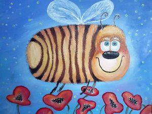 Новая картина про Пчёла Апреля!   Ярмарка Мастеров - ручная работа, handmade