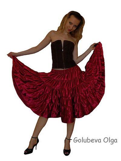 Мастер-класс по изготовлению многоярусной юбки, фото № 6