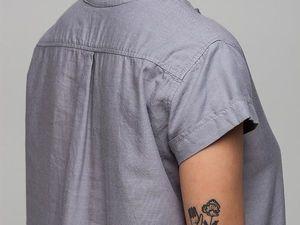YOKU в деталях: платье-рубашка из серого хлопка. Ярмарка Мастеров - ручная работа, handmade.