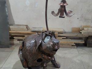 собака светильник. Ярмарка Мастеров - ручная работа, handmade.