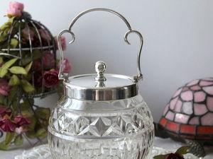Дополнительные фотографии антикварной банки для бисквита. Ярмарка Мастеров - ручная работа, handmade.